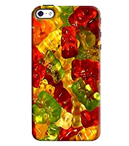 Blue Throat Pattern Made Of Jelly And Candy Printed Designer Back Cover For Apple iPhone 4s