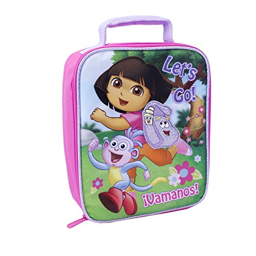 Global Design Concepts Dora the Explorer Lunch Kit, Pink/Purple - 1