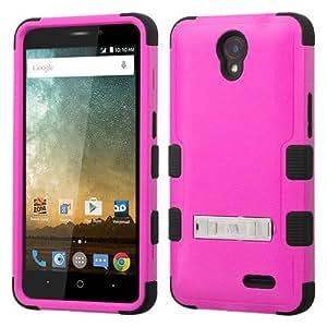 ZTE Prestige Case - Armatus Gear (TM) TUFF Hybrid Armor Case Rugged Defender Protective Phone Cover For ZTE Prestige N9132 - Hot Pink / Black