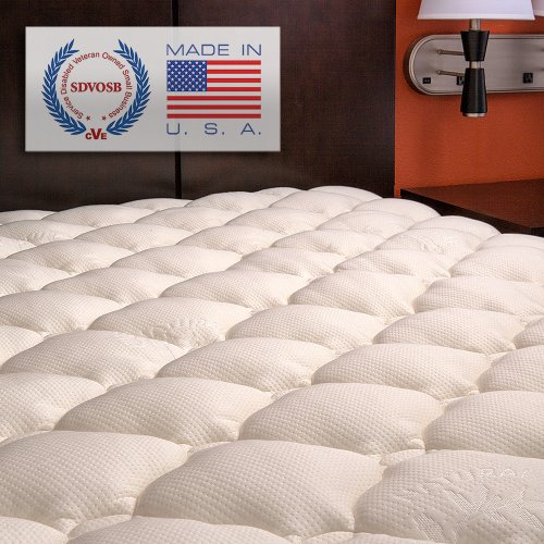 Learn More About Extra Plush Bamboo Fitted Mattress Topper, Olympic Queen