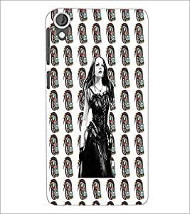 PrintDhaba Beautiful girl D-4062 Back Case Cover for HTC DESIRE 820 (Multi-Coloured)