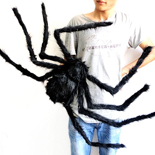 75cm Large Size Plush Black Spider made of wire and plush Funny Toy for party or Bar KTV halloween decoration (Jacks Big Music Show Toys compare prices)
