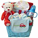 Go Go Baby! Boy Gift Basket with Teddy Bear