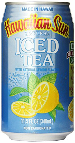 Hawaiian Sun Iced Tea, Lemon, 11.5-Ounce (Pack Of 24)