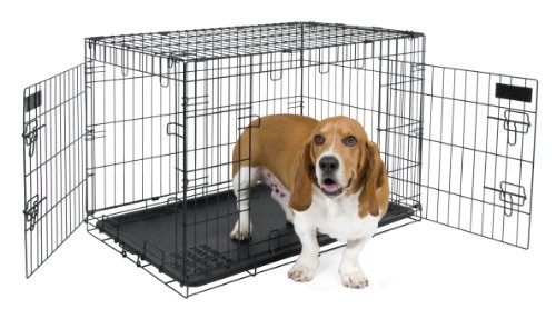 Petmate 30-Inch 2-Door Training Retreats Wire Kennel For Dogs, 30 To 50-Pound