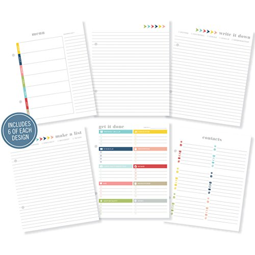 "Simple Stories Snap Plan Your Life Documented Inserts (36 Pack), 6 by 8"" - 1"