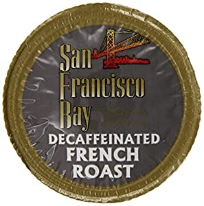 San Francisco Bay Coffee, Decaf French Roast, 12 OneCup Single Serve Cups (Pack of 3)