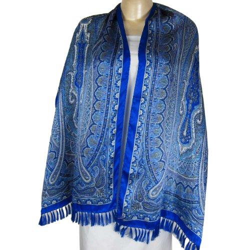 Indian ClothingWomenSilk Scarves Printed Rectangular 55 cm x 182 cm