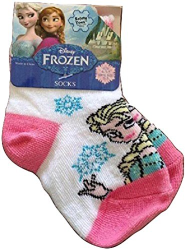 Frozen Elsa Kids Toddler Socks Dress up Sz 1-5 Shoe Pink White