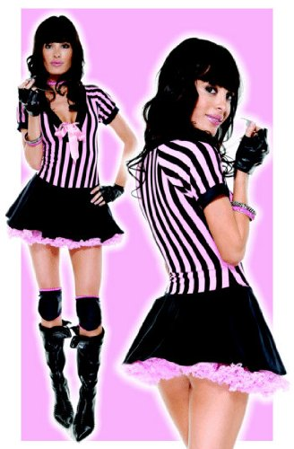 4PC Time Out!-Referee Sexy Holiday Party Costume