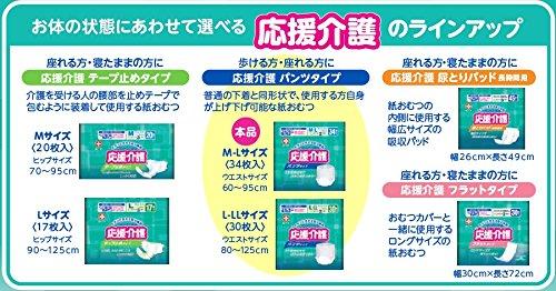 応援介護 パンツ  タイプ M-Lサイズ 男女共用 34枚入【ADL区分:立てる・座れる方】 白十字