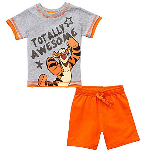 Disney Baby Boys' Tigger TOTALLY AWESOME 2 Pc T-Shirt Short Set Dress Up Outfit