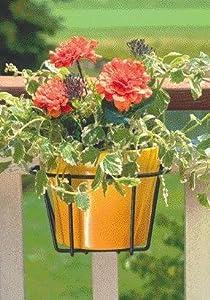 3 PACK ADJUSTABLE FLOWER POT HOLDER, Color: BLACK; Size: 10 INCH (Catalog Category: Lawn & Garden:PLANTERS, POTS & FLOWERBOX)