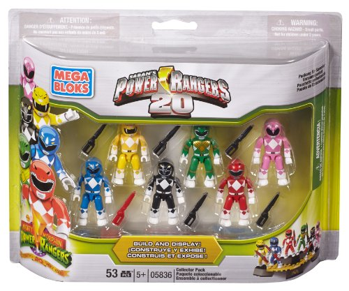 Mega Bloks Power Rangers 20th Anniversary Collector Pack (Power Rangers Lego compare prices)