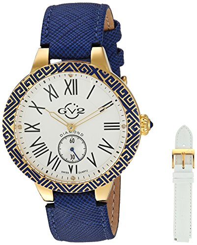 GV2-by-Gevril-Womens-9123-Astor-Enamel-Analog-Display-Quartz-Blue-Watch