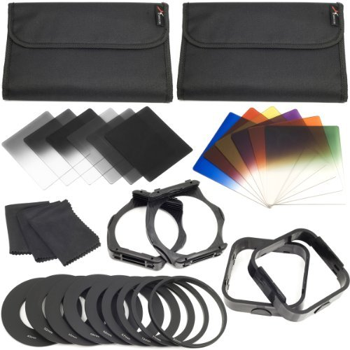 12pcs ND Color Filters + 9 Adapter Ring +2 Holder +2 Lens Hood For Cokin P LF142