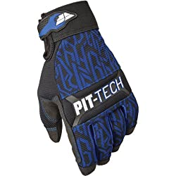 Fly Racing Pit Tech Pro Men's Off-Road Motorcycle Gloves - Blue