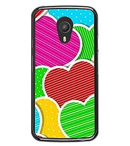 Multi Colour Hearts 2D Hard Polycarbonate Designer Back Case Cover for Meizu M2 Note :: Meizu Blue Charm Note2