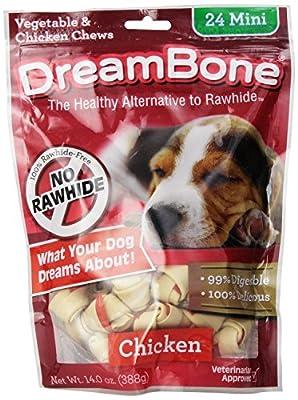 DreamBone Chicken Dog Chew Mini 24-count New Free Shipping