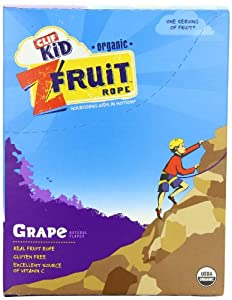 Clif Kid Organic ZFruit Rope, Grape, 0.7 oz. Bars, 18 Count