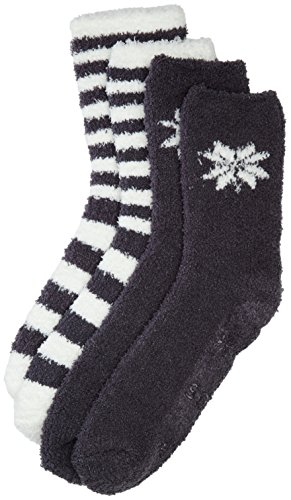 Totes Women's Supersoft Twin Pack Slipper Socks,