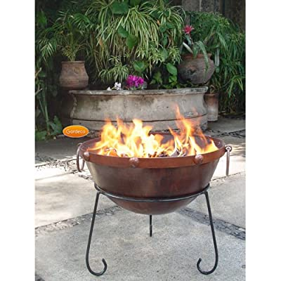 Theydon Rustic Steel Fire Bowl 40cm Dia To Give That Medieval Feel