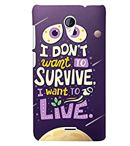 Printvisa Life Quote On A Move Background Back Case Cover for Micromax Canvas Unite 2 A106