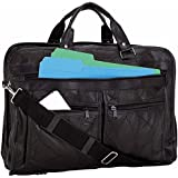 Goson® Genuine Patchwork Leather Business Class Laptop Briefcase