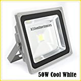 50W LED Flood Light -Cool White- Indoor & Outdoor USE-DIRECT 100-264 V AC BY A2Z TECH