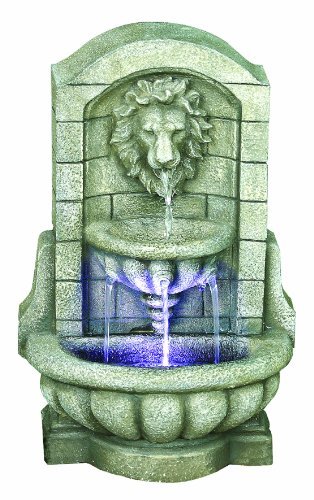 Premier BA111525 Lion Head Lit Water Feature includes 1 LED