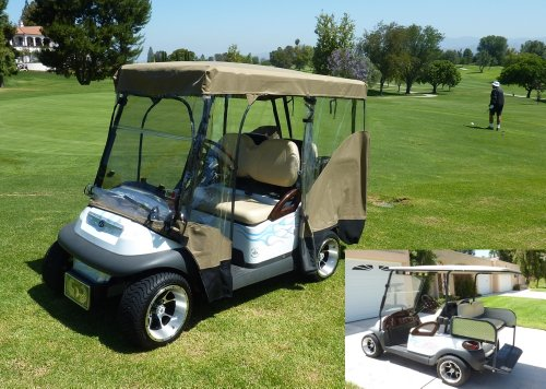 Used Electric Golf Carts - Golf Cart Driving Enclosure for 4 ... on radio install golf cart roof, club car roof, ezgo marathon roof, ezgo extended roof, golf cart extended roof, yamaha golf cart roof, custom golf cart roof, universal golf cart roof, 80-inch golf cart roof, rhino golf cart roof,