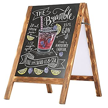 Rustic Wood A-Frame Double-Sided Chalkboard