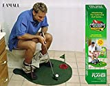 Eamall Toilet Golf Game Training Potty Putter Putting Mat Golf Game