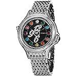 Fendi Women's F105031000D3T02 Crazy Carats Analog Display Swiss Quartz Silver Watch