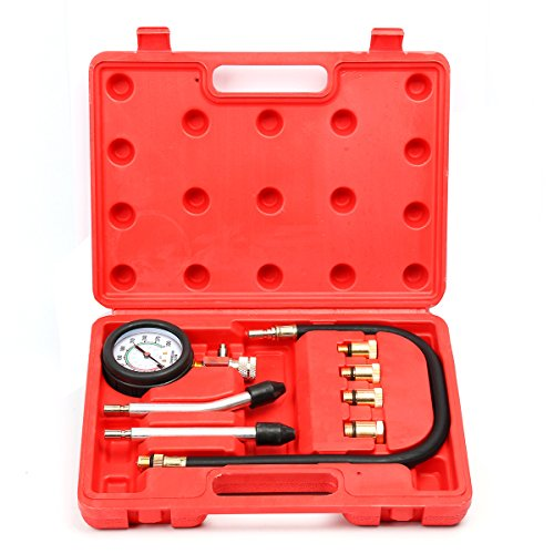 8milelake Professional Petrol Gas Engine Cylinder Compression Tester Gauge Kit Auto Tool (Spark Plug Compression Tester compare prices)