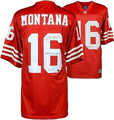 Joe Montana San Francisco 49ers Autographed Red Proline Jersey with SB XVI XIX XXIV MVP Inscription - Fanatics Authentic Certified