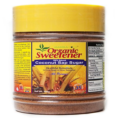 Organic Sweetener Coconut Sap Sugar- 500gm : Healthful Substitute for Cane, Artificial Sweetener, or Other Sugars : Caramel Soft Powder : No Engineered Enzymes, No Synthetic Chemical Processing : No Licorice Bitter Aftertaste : No Blood Glucose Spikes : A