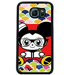 PrintDhaba Cartoon D-3211 Back Case Cover for SAMSUNG GALAXY S6 (Multi-Coloured)