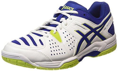 ASICS Gel-dedicate 4 - Scarpe da Tennis Uomo, Bianco (white/asics Blue/lime 0143), 44 1/2 EU
