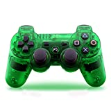 YANX Wireless Double Shock PS3 Game Console Controller Gamepad Joypad for Playstation 3 - Transparent Green