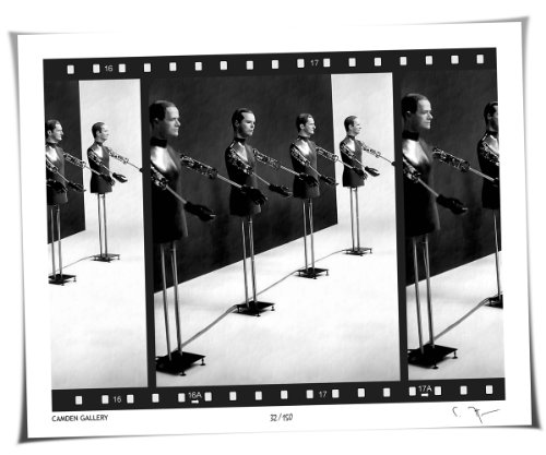 Limited Edition Film Strip Art Print - Kraftwerk - Textured Black & White Mini Photo Poster - Signed & Numbered by Camden Gallery