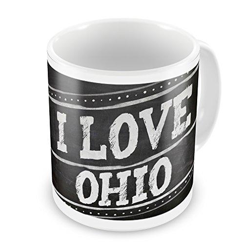 Coffee Mug Chalkboard With I Love Ohio - Neonblond