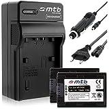 2 Batteries + Chargeur (Auto/Secteur) pour Sony NP-FH50/FP-50 / DSC-HX1, HX100, HX100V, HX200V..voir liste!