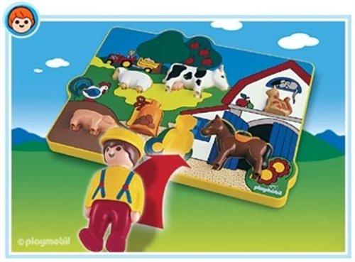 Imagen 1 de Playmobil 6746 - 1.2.3 Puzzle de Granja