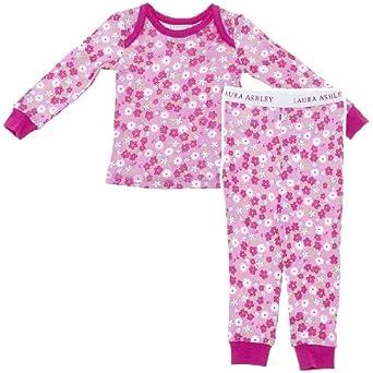 Laura Ashley Pink Floral Pajamas for Girls S/4: Pajama Sets: Clothing