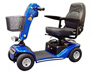 Valencia Heavy Duty 4mph 4 Wheeled Mobility Scooter - Blue