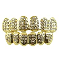 14K Gold Plated Iced Out Grillz with…