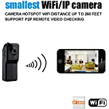 Conbrov(tm) WF81 Mini Portable Wifi IP Camera Wireless Video Camcorder Cam data Recorder for Iphone Android Personal body Security