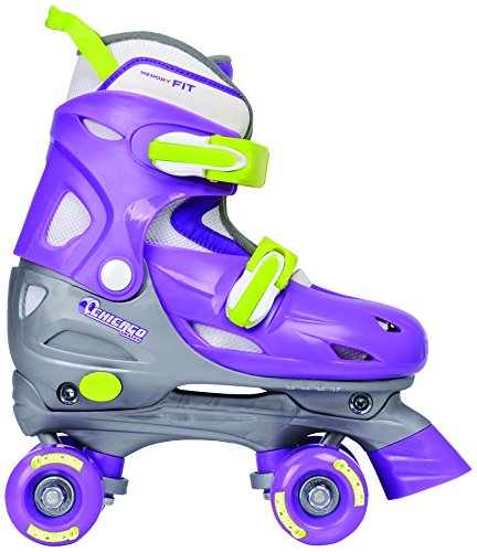 Cheapest Prices! Chicago Girl's Adjustable Quad Skate, Purple/Silver, Small