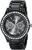 XOXO Women's Enamel Bracelet With Rhinestones Accent Watch Silver XO5403
